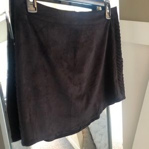 Kendall and Kylie Black Suede MiniSkirt
